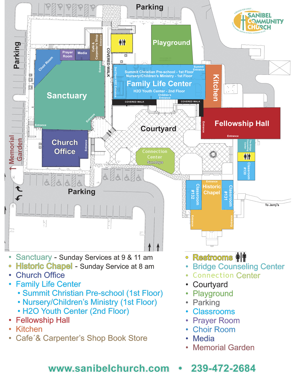 Directions Campus Map Sanibel Community Church