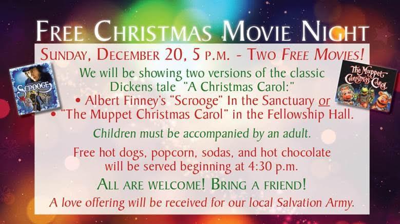 Free Movie Night Flyer Sanibel Community Church