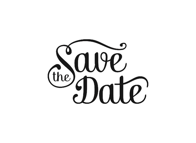 save the date black and white clipart 3 sanibel community church