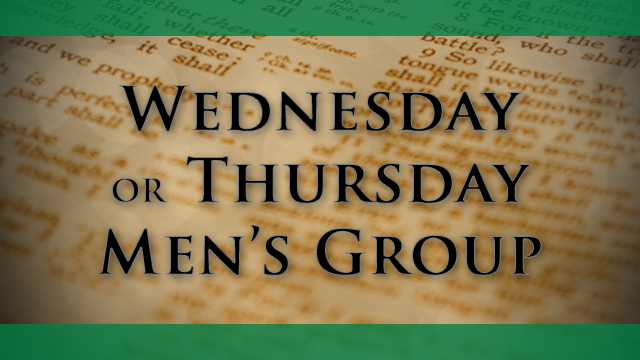 Men's Bible Study Resumes