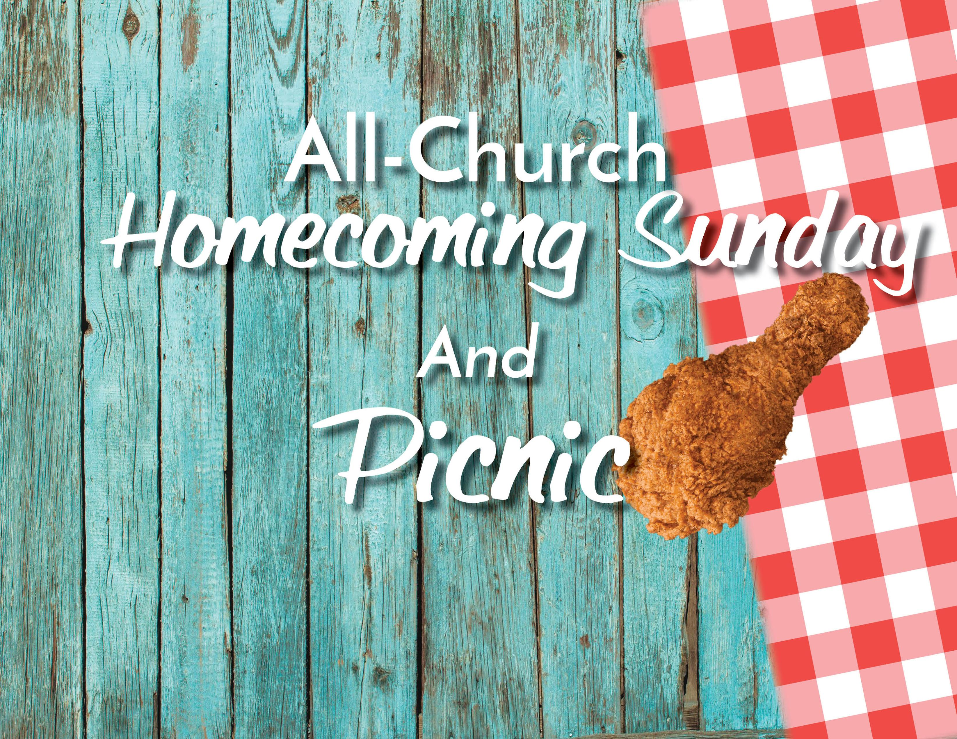All Church Homecoming Sunday and Welcome Back Picnic