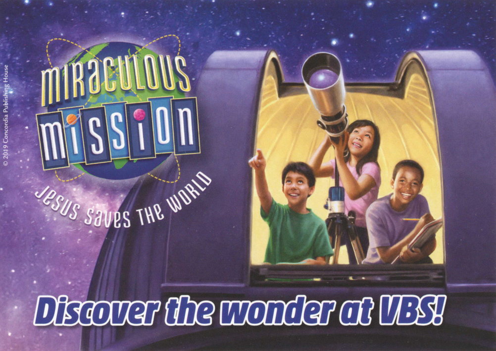 "Miraculous Mission  ""Jesus Saves the World"" VBS"